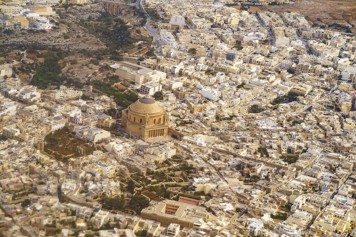 Urban sprawl around Mosta: Malta's open spaces are dwindling. Photo: Shutterstock