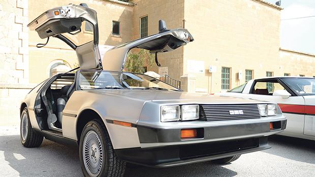 The DeLorean time machine from Back to the Future.