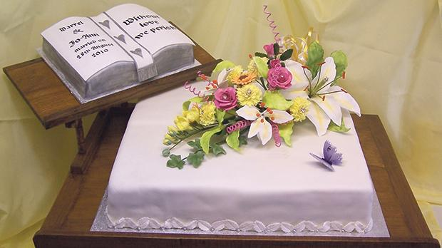 Drew Carr is the cake maker: Without love we perish.