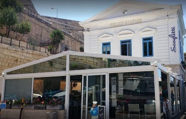 Scoglitti restaurant in Valletta is named on the sanctions list. Photo: Google