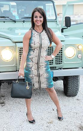 Dress: Roberto Cavalli, Shoes: Michael Kors Bag: Michael Kors All available at Rebelli. Photos: Marco Ahlgren