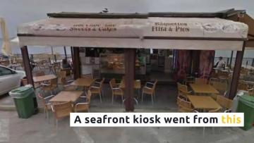 Watch: 'We lost everything': two separate eateries gobbled up by the storm | Before and after: how the storm took its toll