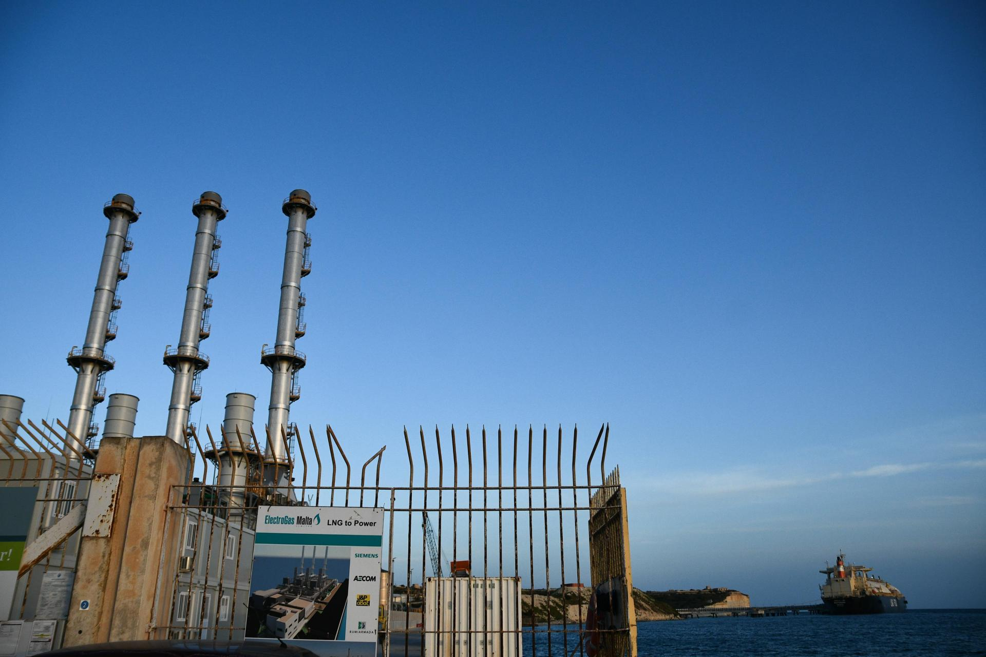 The Electrogas power station in Delimara. Photo: DOI