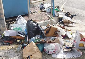 Irresponsible dumping of mixed waste.