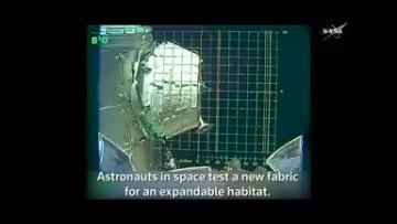 NASA tries out new fabric to house astronauts in space
