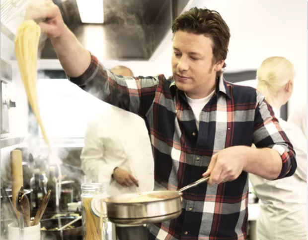 Celebrity chef Jamie Oliver loves using pasta.