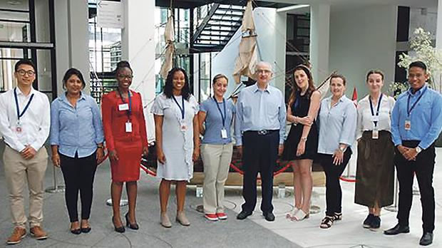 IMLI director Prof. David Attard (sixth from left) with the IMLI graduates participating in the 12th IFLOS Summer Academy (from left): Bin Zhao (China), Anoushka Kishtoo (Mauritius), Lauretta Caroline Nafula Wakoli (Kenya), Najla Achele Rosonia King (Barbados), Claudia Marcela Rodriguez Cuellar (Colombia), Sarah Spiteri (Malta), Olena Semenova (Ukraine), Eli Berlan (Croatia) and Samuel Charles Bonor (Indonesia).