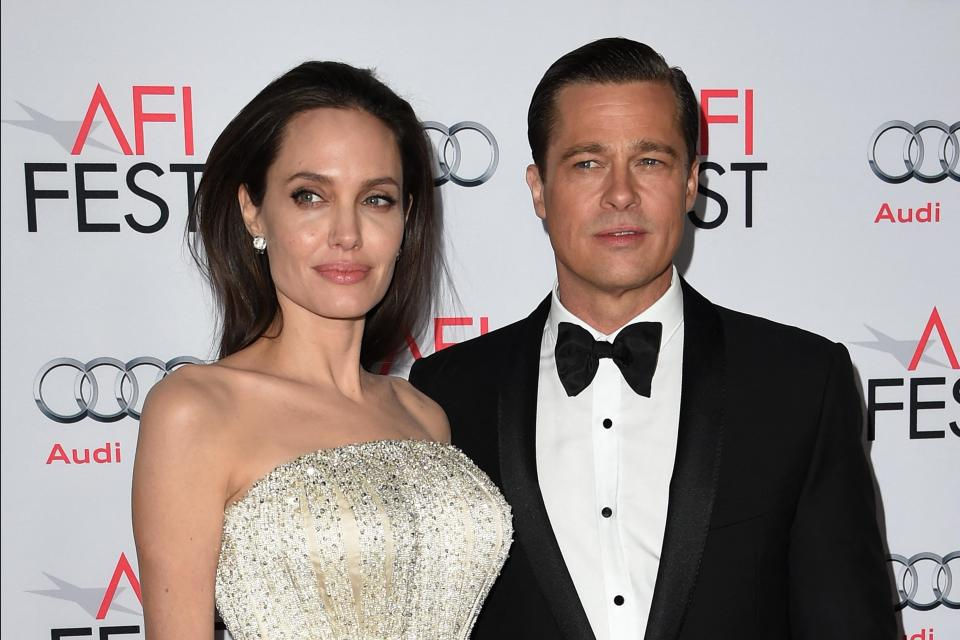 Angelina Jolie and Brad Pitt prior to their divorce. Photo: Mark Ralston/AFP