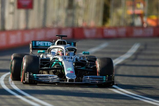Lewis Hamilton was fastest on his Mercedes at the Australian GP practice session.