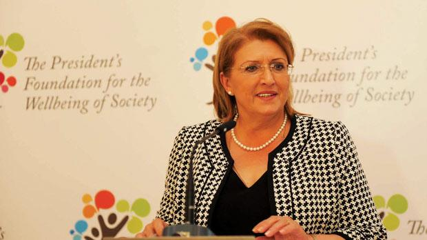 President Marie-Louise Coleiro Preca at the launch of the hub for ethnobotanical research.