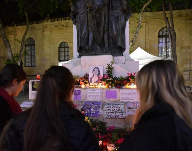 The vigil on January 16. Photo: Mark Zammit Cordina