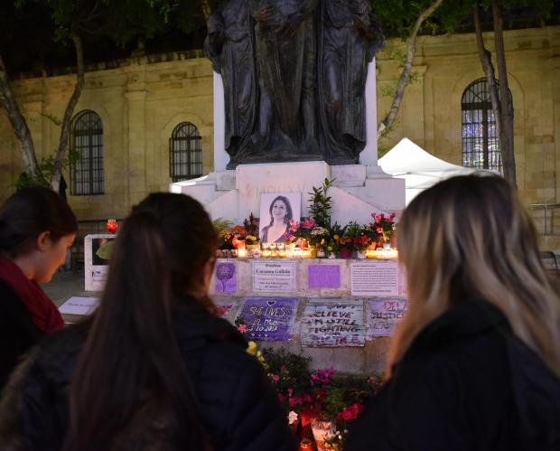 The memorial was erected at the foot of the Great Siege monument. Photo: Mark Zammit Cordina