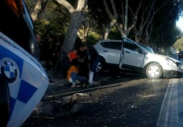Two people injured in Floriana accident