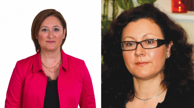 Therese Comodini Cachia (left) was elected, but has opted to give up her seat, while Marlene Farrugia returns to parliament as the leader of the Democratic Party.