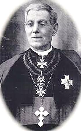 Archbishop Pietro Pace (1831-1914), who instigated the petition to Queen Victoria for the area of Rabat, Gozo, and adjacent areas to be renamed Victoria in her honour.