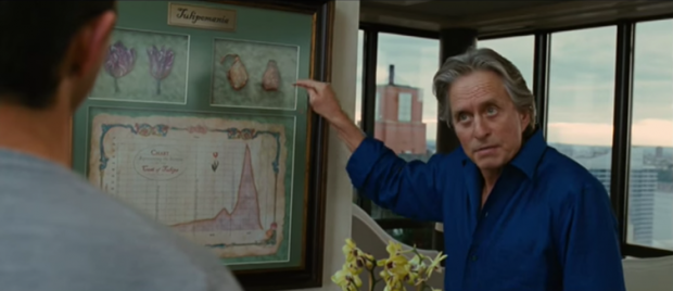 Gordon Gekko talks tulips. Wall Street: Money Never Sleeps / scottab140