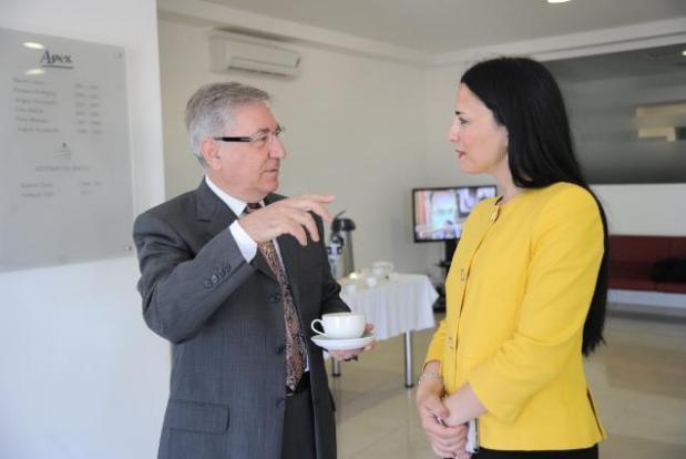 Dr Fenech Farrugia with EU Commissioner Karmenu Vella.