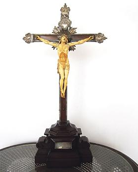 Ivory crucifix, Casa Rocca Piccola Collection.