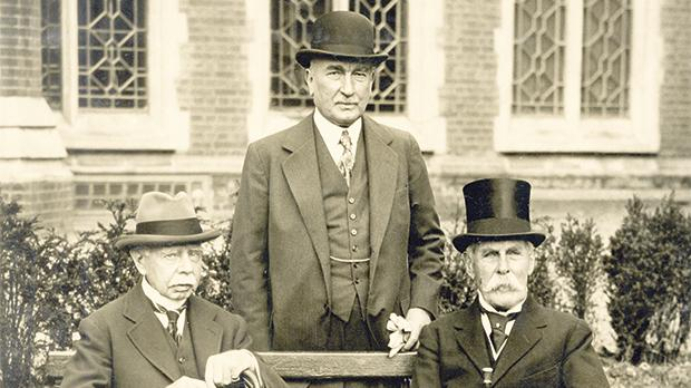 Three field marshals (from left) Field Marshal Viscount Plumer, Field Marshal Sir Claud Jacob and Field Marshal Baron Methuen, 1931.