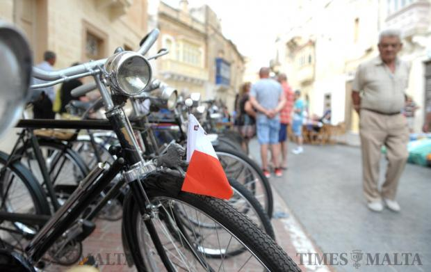 Old bicycles line one of the roads in Zurrieq during the Fish Festival on June 5. Photo: Matthew Mirabelli