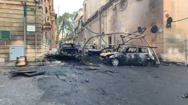 Four cars were also destroyed in the fire. Photo: Facebook