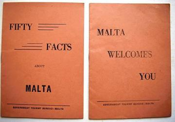 Malta Tourist Board brochures, 1950s.