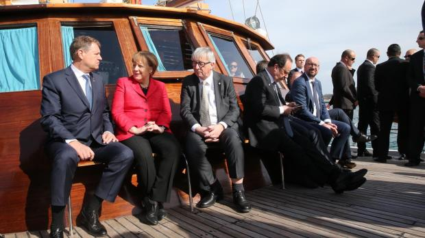 EU leaders had time for a boat trip in between summit meetings. Photo: DOI/Clodagh Farrugia O'Neill