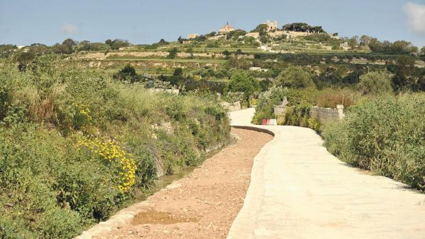 Country roads at Wied l-Isqof in Rabat are being reinstated to their original state. Photo: Chris Sant Fournier