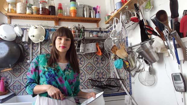 Bon Little Paris Kitchen Spells Success For British Chef. British Chef And  Author Rachel Khoo Posing In Her Micro Restaurant Named La Petite Cuisine