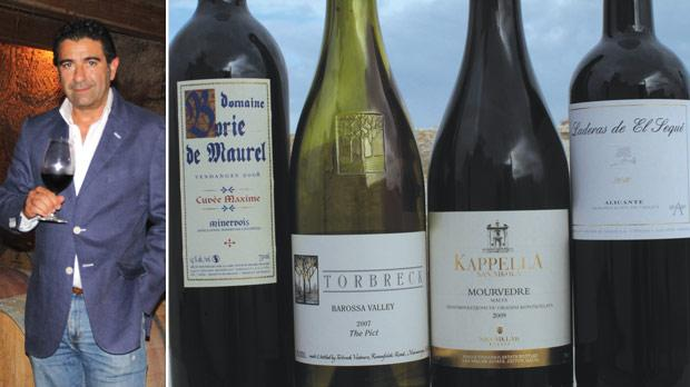 John Cauchi, pictured, has invested heavily to convert family fields at San Niklaw in Żejtun into vineyards. Seen here are four Mourvèdre wines from France, Australia, Malta and Spain.