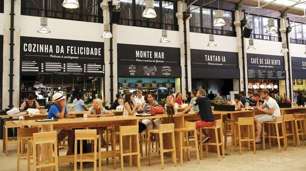 Old Lisbon Market Cooks Up Novel Food To Media Concept