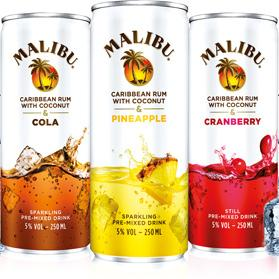 Malibu Pineapple Cans