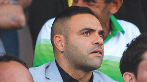 Italian forward Fabrizio Miccoli, seen here watching last season's FA Trophy final, has agreed to join Birkirkara on a one-year deal. Photo: Mark Zammit Cordina