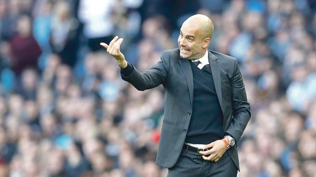 Pep Guardiola... great start to career in Premier League.