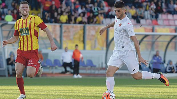 Luke Montebello (right) in action for Valletta against Birkirkara last season. Photo: Matthew Mirabelli