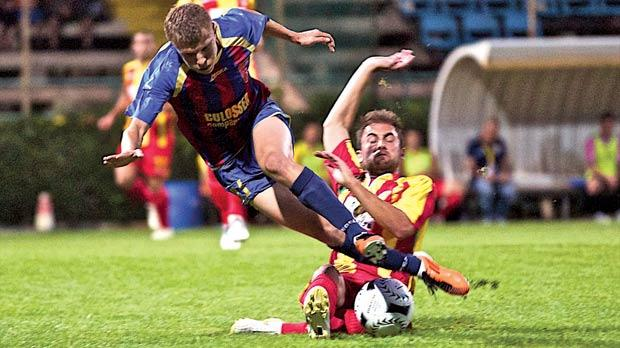 Birkirkara started their European campaign with a 1-0 defeat to Vllaznia. Photo: Paul Zammit Cutajar