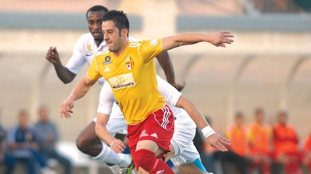 Jean Pierre Mifsud Triganza launching an attack for Birkirkara. Photo: Matthew Mirabelli