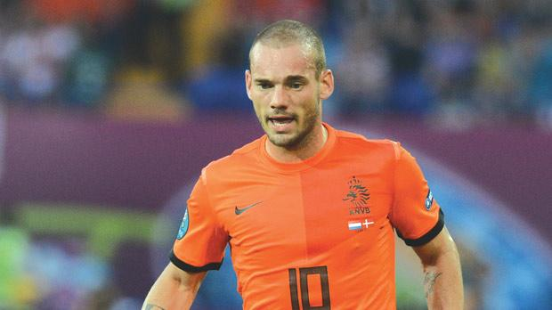 Wesley Sneijder... set to complete move to Galatasaray.