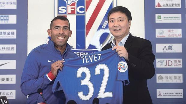 Argentinian striker Carlos Tevez is one of the biggest names in the Chinese Super League.