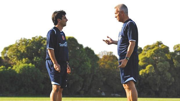 Former Malta coaches John Buttigieg (right) and Carmel Busuttil are at loggerheads with the MFA.