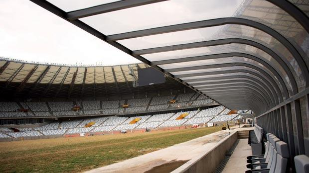 Renovation works are currently underway at the Mineiro stadium.