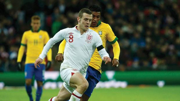 Jack Wilshere has it all: passing, dribbling, shooting, tackling and an engine that keeps him in the heart of the action from first whistle to last. Photo: Reuters