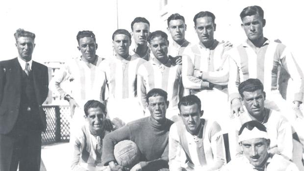 A photograph of the Floriana FC team in the early 1930s.