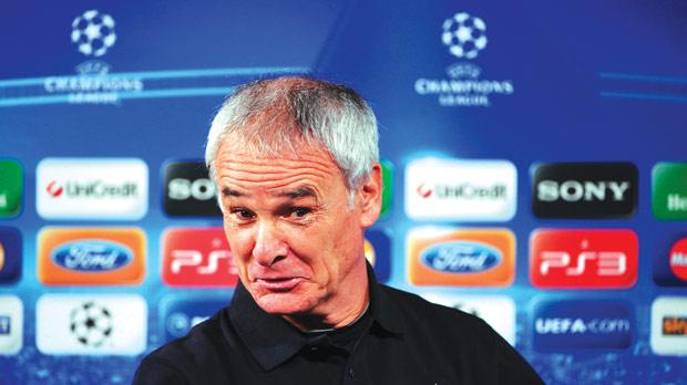 Claudio Ranieri... crucial Serie A match for Inter this evening.