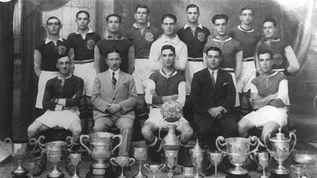Sliema Wanderers, winners of the league championship and Cousis Shield in 1925-26.