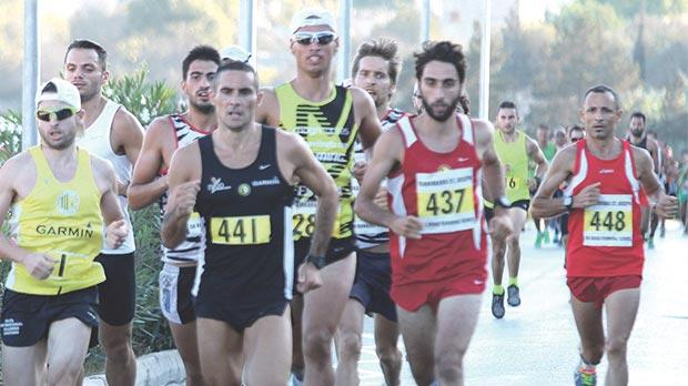 Athletes take part in the final men's race of the Birkirkara SJ 5K Road Running Series.
