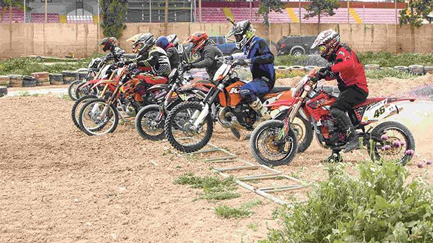 Motocross riders during the Enduro competition in Naxxar last weekend.