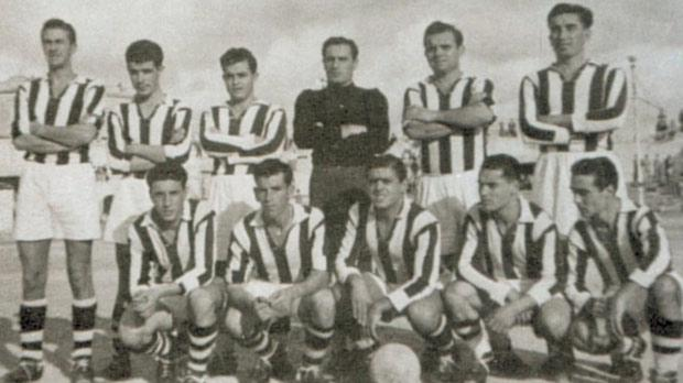 The Rabat Ajax side that reached the FA Trophy final in 1954.