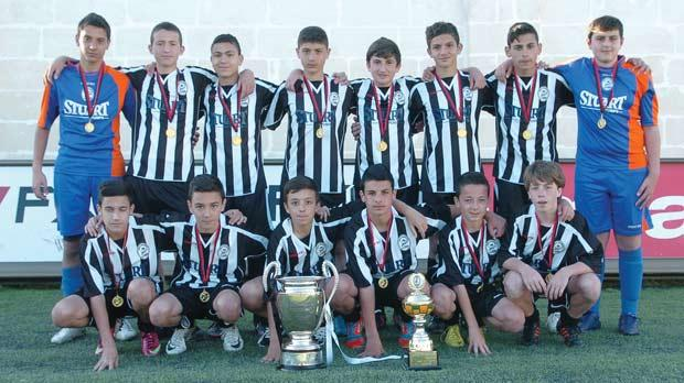 The Paola Hibs U-14 team, winners of this year's Tony Bajada Challenge Cup. Photo: Stephen Gatt