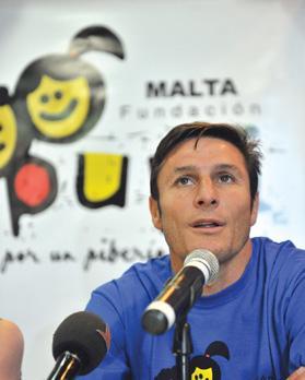 Perfect gentleman... Former Inter captain Javier Zanetti is strengthening his ties with Malta. Photo: Jason Borg